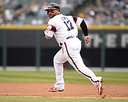 CHICAGO - APRIL 07:  Yonder Alonso #17 of the Chicago White Sox runs the bases against the Seattle Mariners on April 7, 2019 at Guaranteed Rate Field in Chicago, Illinois.  (Photo by Ron Vesely)  Subject:  Yonder Alonso