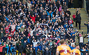 Dundee fans get behind their team at Fir Park - Motherwell v Dundee, Fir Park, Motherwell, Photo: David Young<br /> <br />  - &copy; David Young - www.davidyoungphoto.co.uk - email: davidyoungphoto@gmail.com