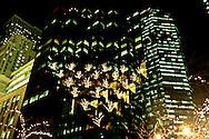 New York.lighting on Trump tower on fifth avenue  New York - United states /  illuminations sur le  Trump tower  5 em avenue  New York - Etats-unis