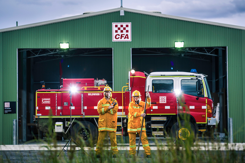 15/11/12 WEST SUN/MACE 32410 Wildwood CFA are opening their new fire station. the old one was over 30 years old and needed replacing. The CFA is the heart of the town,.Lieutenant Joel Xuereb (left) &amp; Secretary Lisa Varrasso..Pic By Craig Sillitoe This photograph can be used for non commercial uses with attribution. Credit: Craig Sillitoe Photography / http://www.csillitoe.com<br />