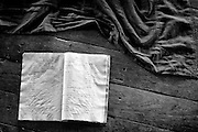 Text Book and Monks Robe..<br /> Shwe Yaunghwe Kyaung Monastery is a wooden monastery near Inle Lake in Myanmar. It is located about one kilometer from the town of Nyaungshwe