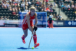 Sarah Haycroft. England v Argentina, Lee Valley Hockey and Tennis Centre, London, England on 10 June 2017. Photo: Simon Parker
