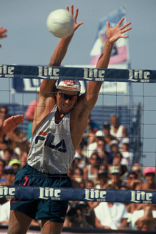AVP Professional Beach Volleyball - Belmar, NJ - 1993 - Kent Steffes -  Photo by Wally Nell/Volleyball Magazine
