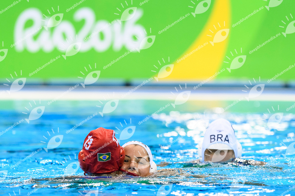 Brazilian players wave the audience at the end of their Olympic games <br /> Rio de Janeiro 19-08-2016 Olympic Aquatics Stadium  - Water Polo <br /> BRAZIL BRA - CHINA CHN <br /> Foto Andrea Staccioli/Deepbluemedia/Insidefoto