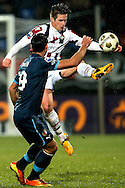 Onderwerp/Subject: Willem II - Feyenoord - Eredivisie<br /> Reklame:  <br /> Club/Team/Country: <br /> Seizoen/Season: 2012/2013<br /> FOTO/PHOTO: Jordens PETERS (BEHIND) of Willem II in duel with Graziano PELLE (FRONT) of Feyenoord. (Photo by PICS UNITED)<br /> <br /> Trefwoorden/Keywords: <br /> #04 $94 &plusmn;1354627667242<br /> Photo- &amp; Copyrights &copy; PICS UNITED <br /> P.O. Box 7164 - 5605 BE  EINDHOVEN (THE NETHERLANDS) <br /> Phone +31 (0)40 296 28 00 <br /> Fax +31 (0) 40 248 47 43 <br /> http://www.pics-united.com <br /> e-mail : sales@pics-united.com (If you would like to raise any issues regarding any aspects of products / service of PICS UNITED) or <br /> e-mail : sales@pics-united.com   <br /> <br /> ATTENTIE: <br /> Publicatie ook bij aanbieding door derden is slechts toegestaan na verkregen toestemming van Pics United. <br /> VOLLEDIGE NAAMSVERMELDING IS VERPLICHT! (&copy; PICS UNITED/Naam Fotograaf, zie veld 4 van de bestandsinfo 'credits') <br /> ATTENTION:  <br /> &copy; Pics United. Reproduction/publication of this photo by any parties is only permitted after authorisation is sought and obtained from  PICS UNITED- THE NETHERLANDS