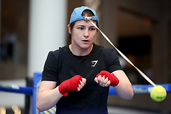Katie Taylor during the public work-out at the Brookfield Place, New York.