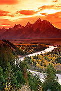 Clearing storm over the Tetons from the Snake River overlook, Grand Teton National Park, Wyoming