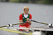 Lucerne, SWITZERLAND. BLR W1X, Ekaterina KARSTEN- KHODOTOVITCH, moves away froom the start in her afternoon semi final, at the  2008 FISA World Cup Regatta, Round 2.  Lake Rotsee, on Saturday, 31/05/2008.  [Mandatory Credit:  Peter Spurrier/Intersport Images].Lucerne International Regatta. Rowing Course, Lake Rottsee, Lucerne, SWITZERLAND.