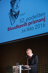 Miroslav Cerar at 52th Annual Awards of Stanko Bloudek for sports achievements in Slovenia in year 2016 on February 14, 2017 in Brdo Congress Center, Brdo, Ljubljana, Slovenia.  Photo by Martin Metelko / Sportida