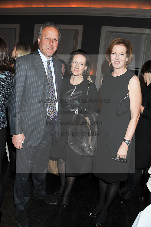 Left to right, LORD & LADY MARLAND and JULIA PEYTON-JONES at a dinner for the Serpentine Gallery's Council held at Morton's, Berkeley Square, London on 5th December 2011.
