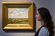 The Return of the Flock by Walter Osborne; est £200-300k - Christie's preview exhibition of works from its upcoming British Impressionism Sale, on view to the public from 18-22 November 2017. The auction will take place on 22 November 2017 at Christie's King Street.