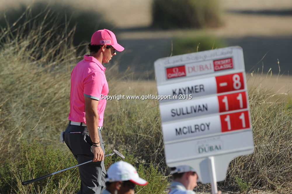 30/01/2015 European Tour 2015, Omega Dubai Desert Classic, Emirates GC, Dubai, UAE. 29 Jan - 01 Feb. Rory  McIlroy of Northern Ireland during the second round.