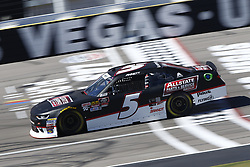 September 14, 2018 - Las Vegas, Nevada, United States of America - Michael Annett (5) brings his race car down the front stretch during practice for the DC Solar 300 at Las Vegas Motor Speedway in Las Vegas, Nevada. (Credit Image: © Chris Owens Asp Inc/ASP via ZUMA Wire)
