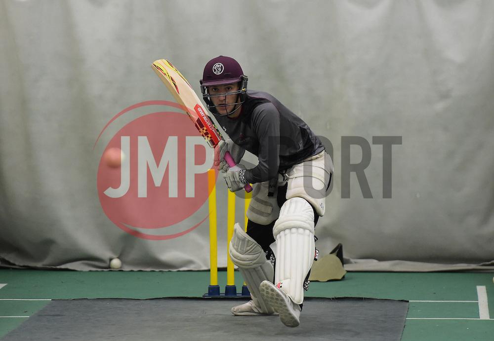 Somerset's Ryan Davies. - Mandatory byline: Alex Davidson/JMP - 25/02/2016 - CRICKET - The Cooper Associates County Ground -Taunton,England - Somerset CCC  Media access - Pre-Season