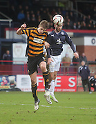 Alloa Athletic's Liam Lindsay and Dundee's Peter MacDonald - Dundee v Alloa Athletic, SPFL Championship at Dens Park<br /> <br />  - &copy; David Young - www.davidyoungphoto.co.uk - email: davidyoungphoto@gmail.com