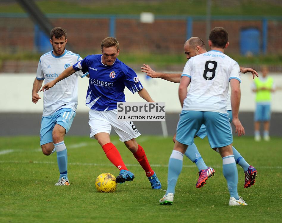 Cowdenbeath v Forfar Ladbrokes League 1 Central Park 19 September 2015<br /> <br /> Dean Brett <br /> <br /> (c) David Wardle | StockPix.eu