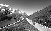 Col du Galibier (el. 2,645 metres (8,678 ft)) is a mountain pass in the southern region of the French Dauphiné Alps near Grenoble. It is the ninth highest paved road in the Alps and the sixth highest mountain pass. It is often the highest point of the Tour de France.