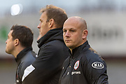 Barnsley FC manager Adam Murray before the EFL Sky Bet Championship match between Barnsley and Stoke City at Oakwell, Barnsley, England on 9 November 2019.