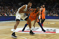 December 19, 2017 - Madrid, Madrid, Spain - Tavares (left), #22 of Real Madrid in action during the 2017/2018 Turkish Airlines EuroLeague Regular Season Round 13 game between Real Madrid and Valencia Basket at WiZink center in Madrid. (Credit Image: © Jorge Sanz/Pacific Press via ZUMA Wire)