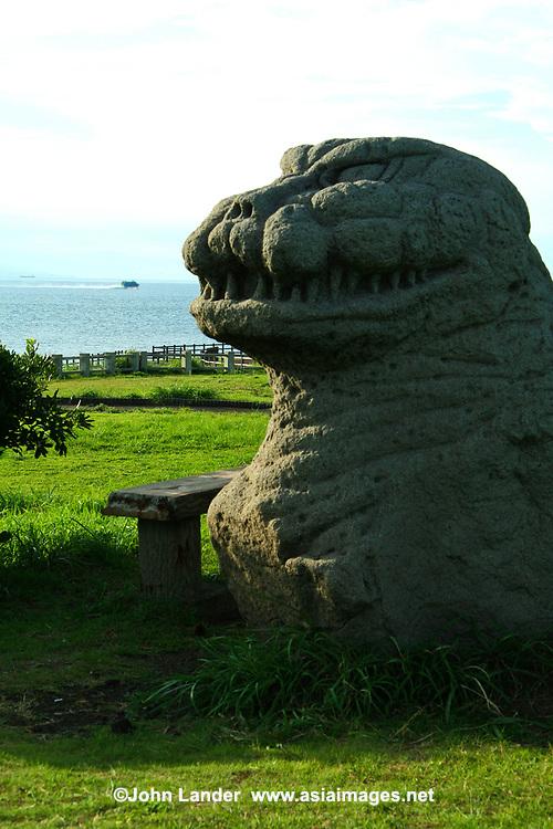 Godzilla Statue, Ohshima