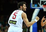 DESCRIZIONE : Kaunas Lithuania Lituania Eurobasket Men 2011 Quarter Final Round Spagna Slovenia Spain Slovenia<br /> GIOCATORE : Rudy Fernandez<br /> CATEGORIA : esultanza<br /> SQUADRA : Spagna Spain <br /> EVENTO : Eurobasket Men 2011<br /> GARA : Spagna Slovenia Spain Slovenia<br /> DATA : 14/09/2011<br /> SPORT : Pallacanestro <br /> AUTORE : Agenzia Ciamillo-Castoria/G.Matthaios<br /> Galleria : Eurobasket Men 2011<br /> Fotonotizia : Kaunas Lithuania Lituania Eurobasket Men 2011 Quarter Final Round Spagna Slovenia Spain Slovenia<br /> Predefinita :