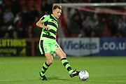 Forest Green Rovers Mark Roberts(21) passes the ball forward during the EFL Trophy match between Cheltenham Town and Forest Green Rovers at Whaddon Road, Cheltenham, England on 3 October 2017. Photo by Shane Healey.
