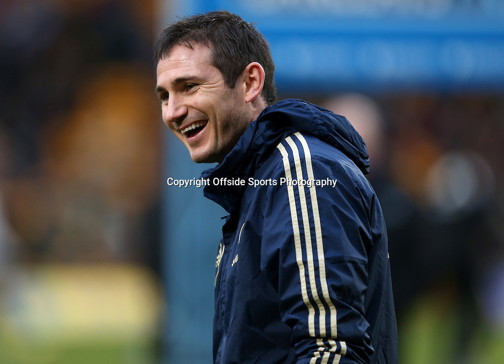 26th December 2012 - Barclays Premier League - Norwich City vs. Chelsea - Frank Lampard of Chelsea laughs and smiles during the warm-up - Photo: Simon Stacpoole / Offside.