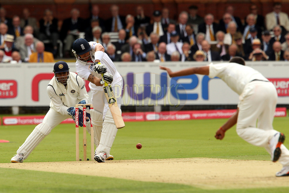 Kevin Pietersen during day 1 of the first test between England and India (The 100th test .match between the two countries and the 2000th test match in the history of cricket) held at Lords Cricket ground in London on the 21th July 2011...Photo by Ron Gaunt/SPORTZPICS/BCCI