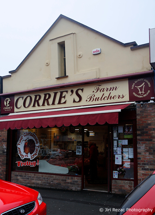 UK NORTHERN IRELAND BELFAST 14JAN10 - View of Corrie's Farm Butchers store in east Belfast. Kirk McCambley's late father owned and ran the store up until his death two years ago. A frequent customer, wife of Northern Ireland's first minister Iris Robinson befriended and helped young Kirk McCambley set up his own business at the Lockkeeper's Inn following his father's death...jre/Photo by Jiri Rezac..© Jiri Rezac 2010