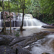 The Pang Sida Waterfall at the Pang Sida National Park in Thailand.