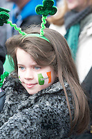 17/03./2014 Tara McLoughlin from Menlo at the Galway St Patrick's Day parade. Photo:Andrew Downes