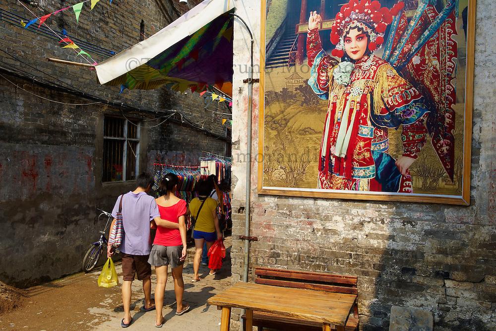 Chine, Province du Guangxi, region de Guilin, village de Xingping, peinture murale // China, Guangxi province, Guilin area, Xingping village
