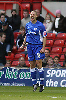 Photo: Pete Lorence.<br />Nottingham Forest v Millwall FC. Coca Cola League 1. 25/11/2006.<br />Ben May celebrates scoring the first goal of the match.