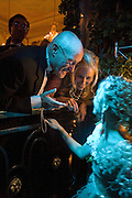 PHIL COLLINS, JILL COLLINS, LILY COLLINS, Crillon Debutante Ball 2007,  Crillon Hotel Paris. 24 November 2007. -DO NOT ARCHIVE-© Copyright Photograph by Dafydd Jones. 248 Clapham Rd. London SW9 0PZ. Tel 0207 820 0771. www.dafjones.com.