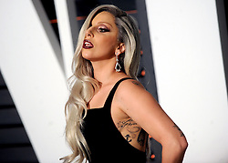 Lady Gaga in attendance for 2015 Vanity Fair Oscar Party Hosted By Graydon Carter at Wallis Annenberg Center for the Performing Arts on February 22, 2015 in Beverly Hills, California. EXPA Pictures © 2015, PhotoCredit: EXPA/ Photoshot/ Dennis Van Tine<br /> <br /> *****ATTENTION - for AUT, SLO, CRO, SRB, BIH, MAZ only*****