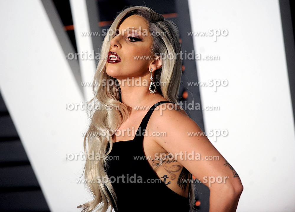 Lady Gaga in attendance for 2015 Vanity Fair Oscar Party Hosted By Graydon Carter at Wallis Annenberg Center for the Performing Arts on February 22, 2015 in Beverly Hills, California. EXPA Pictures &copy; 2015, PhotoCredit: EXPA/ Photoshot/ Dennis Van Tine<br /> <br /> *****ATTENTION - for AUT, SLO, CRO, SRB, BIH, MAZ only*****