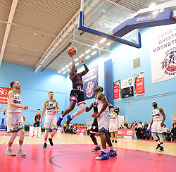Jalan McCloud of Bristol Flyers in action.  - Photo mandatory by-line: Alex James/JMP - 15/12/2018 - BASKETBALL - SGS Wise Arena - Bristol, England - Bristol Flyers v Manchester Giants - British Basketball League Championship