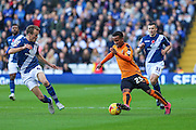 Wolverhampton Wanderers Nathan Byrne during the Sky Bet Championship match between Birmingham City and Wolverhampton Wanderers at St Andrews, Birmingham, England on 31 October 2015. Photo by Shane Healey.