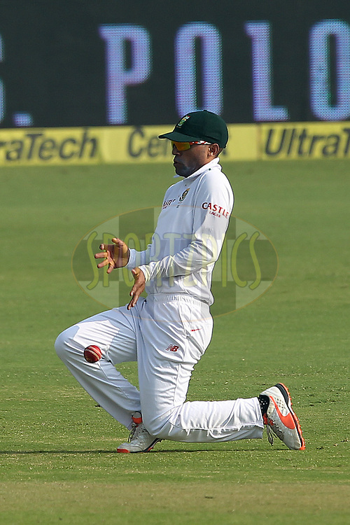 Temba Bavuma of South Africa  during day two of the 4th Paytm Freedom Trophy Series Test Match between India and South Africa held at the Feroz Shah Kotla Stadium in Delhi, India on the 4th December 2015<br /> <br /> Photo by Ron Gaunt  / BCCI / SPORTZPICS