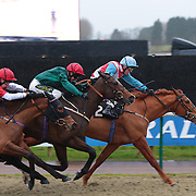 Hill Fort and Daryl Byrne winning the 3.10 race