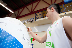 Alen Omic during Open day of Slovenian U20 National basketball team before the European Chmpionship in Slovenia, on July 9, 2012 in Domzale, Slovenia.  (Photo by Vid Ponikvar / Sportida.com)
