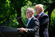 EPA Administrator Scott Pruitt and President Donald Trump announce his decision on the Paris Agreement.  The announcement was made in the White House Rose Garden on May 31, 2017 <br />