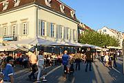 Restaurant Café an der Uferpromenade Überlingen, Bodensee, Baden-Württemberg, Deutschland