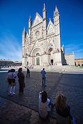 The Duomo di Orvieto a fourteenth century Roman Catholic cathedral Orvieto, Umbria, Italy