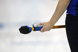 The XXII Winter Olympic Games 2014 in Sotchi, Olympics, Olympische Winterspiele Sotschi 2014, Curling competition, Besen, equipment, Ausruestung, Sportgeraet, sweeper,