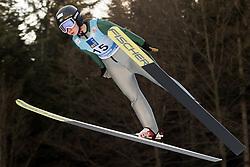 February 7, 2019 - Ljubno, Savinjska, Slovenia - Astrid Moberg of Sweden competes on qualification day of the FIS Ski Jumping World Cup Ladies Ljubno on February 7, 2019 in Ljubno, Slovenia. (Credit Image: © Rok Rakun/Pacific Press via ZUMA Wire)