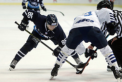 28.08.2015, Dom Sportova, Zagreb, CRO, KHL League, KHL Medvescak vs Admiral Vladivostok, 2. Runde, im Bild Jesse Saarinen. // during the Kontinental Hockey League, 2nd round match between KHL Medvescak and Admiral Vladivostok at the Dom Sportova in Zagreb, Croatia on 2015/08/28. EXPA Pictures © 2015, PhotoCredit: EXPA/ Pixsell/ Goran Jakus<br /> <br /> *****ATTENTION - for AUT, SLO, SUI, SWE, ITA, FRA only*****