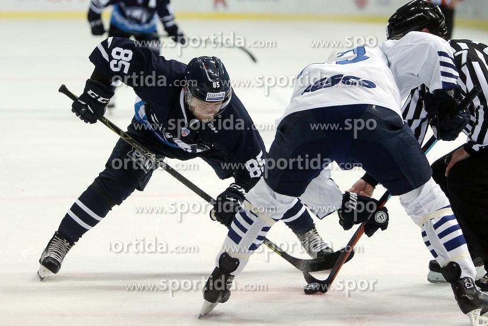 28.08.2015, Dom Sportova, Zagreb, CRO, KHL League, KHL Medvescak vs Admiral Vladivostok, 2. Runde, im Bild Jesse Saarinen. // during the Kontinental Hockey League, 2nd round match between KHL Medvescak and Admiral Vladivostok at the Dom Sportova in Zagreb, Croatia on 2015/08/28. EXPA Pictures &copy; 2015, PhotoCredit: EXPA/ Pixsell/ Goran Jakus<br /> <br /> *****ATTENTION - for AUT, SLO, SUI, SWE, ITA, FRA only*****