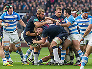 Chris Robshaw and George Kruis head up a maul, England v Argentina in an Old Mutual Wealth Series, Autumn International match at Twickenham Stadium, London, England, on 26th November 2016. Full Time score 27-14