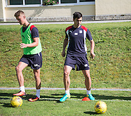 Dundee&rsquo;s Mark O&rsquo;Hara and Julen Etxabeguren  - Day 5 of Dundee FC pre-season training camp in Obertraun, Austria<br /> <br />  - &copy; David Young - www.davidyoungphoto.co.uk - email: davidyoungphoto@gmail.com
